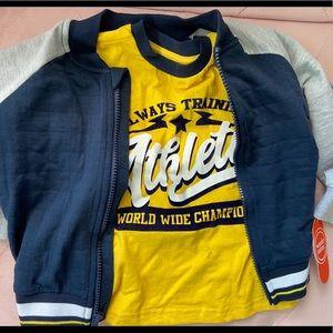 Wonder Nation boys T-shirt and zip jacket set